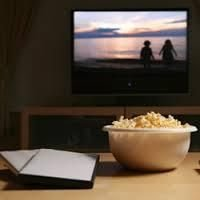 Watching movies on television